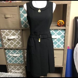 Calvin Klein Black Belted Dress Size 4